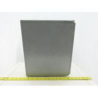 "Hoffman A14128CHQRFG 14"" x12""x8"" Fiberglass Electrical Enclosure W/Back Plate"