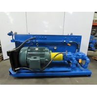 60Hp 280 Gal Hydraulic Power Unit W/Vickers Double Stack Pumps & Heat Exchanger