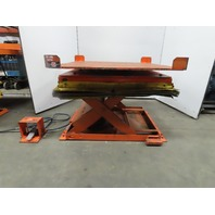 "Airfloat 4000Lb Capacity Pneumatic Scissor Lift 52x52"" Turn Table 36-1/2"" Height"