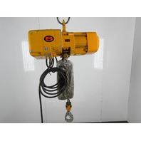 "Harrington NERO10S 1Ton 2000lbs 20'8"" Travel 28FPM 3Ph 460V Electric Chain Hoist"