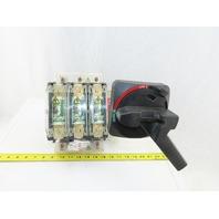 Sprecher+ Schuh L10-NJ200P3 200A 600v 3P Fusible Disconnect Switch W/Operator