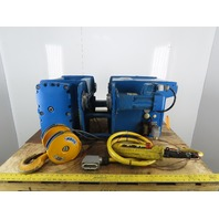 ABUS 3-1/2 Ton Wire Rope Electric Hoist 20m Lift 0.80/4.8 m/min W/Power Trolley
