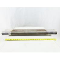 """Dematic 2-13/16"""" OD 29-1/8"""" BF 29-1/8"""" OAL Conveyor Belt Snubber Roller Lot Of 2"""