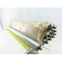 """Dematic 1.9"""" OD 27-1/2"""" BF 29"""" OAL Gravity Conveyor Roller Lot Of 9"""