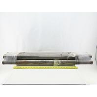 """Dematic 2-3/16"""" OD 34-7/8"""" BF 36"""" OAL Conveyor Belt Snubber Roller Lot Of 4"""