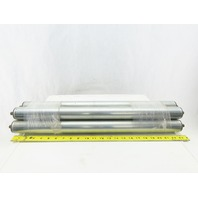 """Dematic 1.9"""" OD 24"""" BF 25-3/8"""" OAL Gravity Conveyor Roller Lot Of 5"""