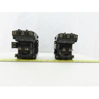 Allen Bradley 500-BODX21 Ser B Size 1 Motor Starter 120V Coil Lot of 2