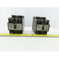 Square D 8501X020 Control Relay Type X Lot of 2