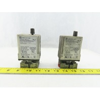Square D 9050 JCK11V20 Time Delay Relay 0.1-10 Seconds W/Socket Lot of 2
