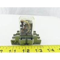 Allen Bradley 700-HF32A06 SER. B Relay 10A 120VAC W/Base