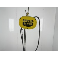 "Budgit 310896-1 1/2 Ton Electric Chain Hoist 230/460V 1/2Hp 115"" Lift 16FPM"