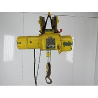 Robbins & Myers 1/2 Ton Electric Cable Hoist 220/440V 3Ph 13' Lift 16FPM Trolley