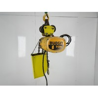 Budgit K616-3R 1 Ton 20' Lift 16/5FPM 2 Speed 3Ph Electric Chain Hoist Trolley