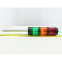 Allen Bradley 855T-BPM25 3 Tier Color Incandescent Safety Light Stack Tower 24V
