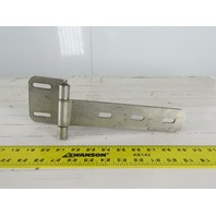 "Offset Square Corner Gate Strap Door Hinge 16 ga 304 Stainless Steel 9-1/2"" x 4"""