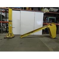 1/2 Ton 1000Lbs. Capacity 12' Span 10' Under 360° Rotation Floor Mount JIB Crane