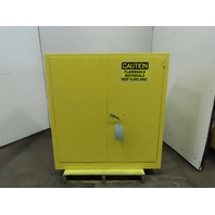 "43 x 44 x 18"" 30 gal Deep Flammable Material Storage Cabinet Self Closing Bifold"