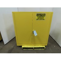 "Justrite 43 x 44 x 18"" 30 gal Deep Flammable Material Storage Cabinet"