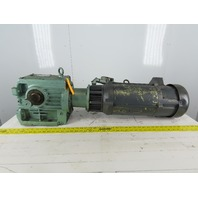 SEW-EURODRIVE S72LP145 3Hp 180VDC Gear Motor W/Warner Brake 71.32:1 Ratio