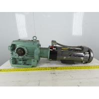 Sew Eurodrive S72LP145 2Hp 180VDC Gear Motor 71.32:1 Ratio W/Warner Brake