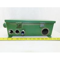 "Hoffman E27524 12"" x 4"" x 4"" Wireway Auxiliary Gutter J Box"