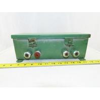 "Hoffman E24524 12"" x 4"" x 4"" Wireway Auxiliary Gutter J Box"