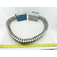 "Conduflex 554 2"" x 1""  Long Stainless Steel Flexible Wire Carrier With Boxes 44"""
