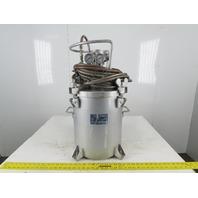 Amour 5 Gallon Pressure Pot W/Agitator Hose 80psi Max
