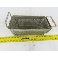 "Rectangular Expanded Metal Parts Washer Dip Basket 5""x10-1/2""x4-1/4"" Deep"