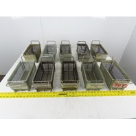 "Rectangular Expanded Metal Parts Washer Dip Basket 5""x10-1/2""x 4-1/4"" Lot of 10"