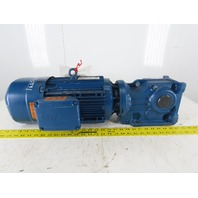 Sew KA47BDRN100LM4 19.50:1 Ratio 268 RPM 3Hp 230/460V Thru Shaft Gear Motor