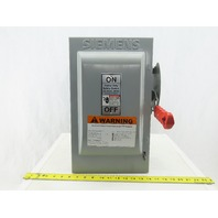 Siemens HF362 60 Amp 600VAC Disconnect Safety Switch Fusible