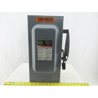 Square D DU323 100A 240V Disconnect Safety Switch Non-Fused 3 Pole