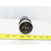 Hubbell 3765C Twist Lock Plug 3P 4W 250VDC 600V