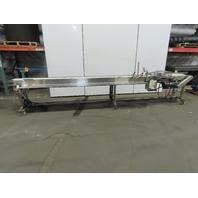 "Best Industrial 10"" x 16' 1-40 FPM Flat Belt QC Pick Off Conveyor 110V Stainless"