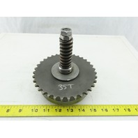 "Spring Loaded 35T Conveyor Drive Sprocket #40 Torque Limiter Clutch 1-3/16"" Bore"
