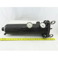 "Custom Service And Design 16"" x 5"" Single Bag Strainer Housing 250°F 1"" Ports"