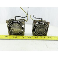Sanyo Denki 109-180 Pico Ace 28 60mm x 60mm 100V Mini Cooling Fan Lot Of 2
