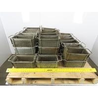 "Rectangular Expanded Metal Parts Washer Dip Basket 5""x10-1/2"" 4-1/4"" Lot of44"