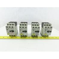 Siemens 3RV1011-0EA10 3Hp 600V 0.28-0.4A Manual Motor Starter Breaker Lot Of 4