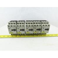 Siemens 3RV1011-1DA10 3Hp 600V 2.2-3.2A Manual Motor Starter Breaker Lot Of 5
