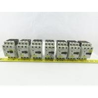 Siemens 3RV1011-0JA10 3Hp 600V 0.7-1A Manual Motor Starter Breaker Lot Of 7