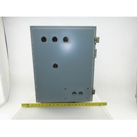"Hoffmann A-201612LP 20x16x12"" Steel Electrical Enclosure Wall Mount W/Back Plate"