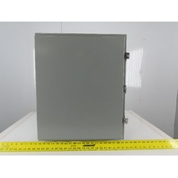 "SEC 24H2012LP 24x20x12"" Steel Electrical Enclosure Wall Mount W/Back Plate"