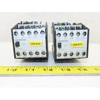 Siemens 3TH4382-0B 600V 8NO+2NC Contactor Relay 24VDC Coil Lot Of 2