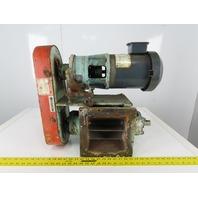 "7""x7"" Rotary Airlock Valve Bulk Material Conveyor 208-230/480V 3Ph 1Hp Gearmotor"