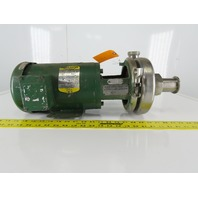 "Tri-Clover C216TF56T-S 2"" x 1-1/2"" Stainless Steel Centrifugal Pump 1 HP 3Ph"