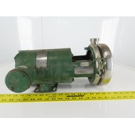 "Tri-Clover C216TF56T-S 2"" x 1-1/2"" Stainless Steel Centrifugal Pump 3/4 HP 3Ph"