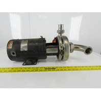 "Tri-Clover C216TF56T-S 2""x1-1/2"" Stainless Steel Centrifugal Pump 3/4 HP 3Ph"