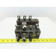 16 Port Compact Stacked Steel Hydraulic Manifold